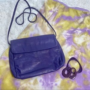 Vintage Grape Embossed Cowhide Crossbody/Shldr 🍇